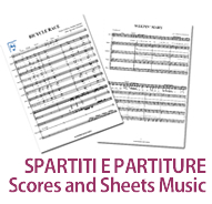 SPARTITI E PARTITURE / SCORES AND SHEETS MUSIC