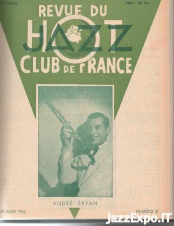 REVUE DU JAZZ HOT CLUB DE FRANCE 12 Annee - No 8
